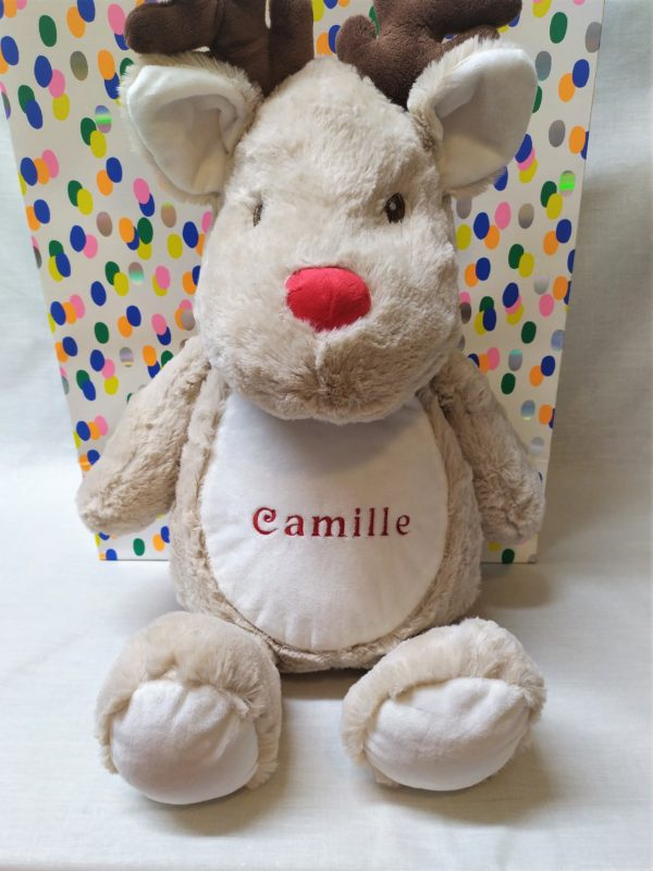 peluche brodée camille