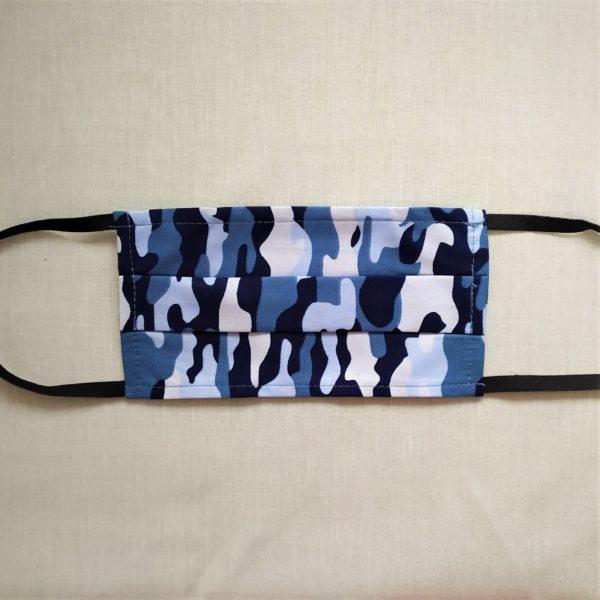 masque camouflage bleu