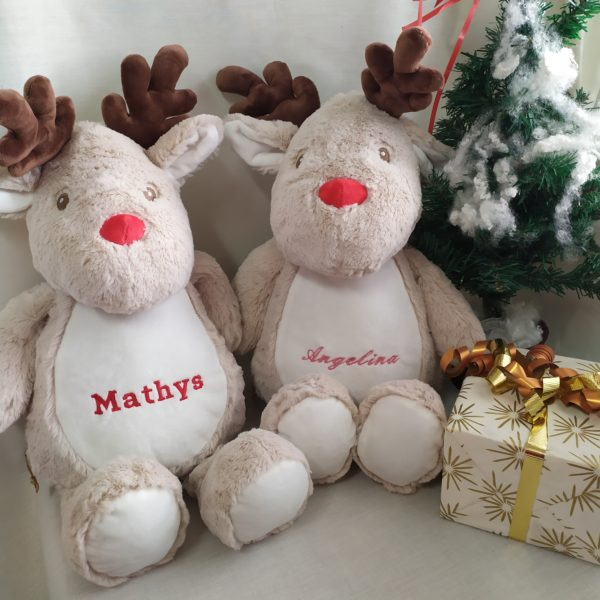 duo peluches renne