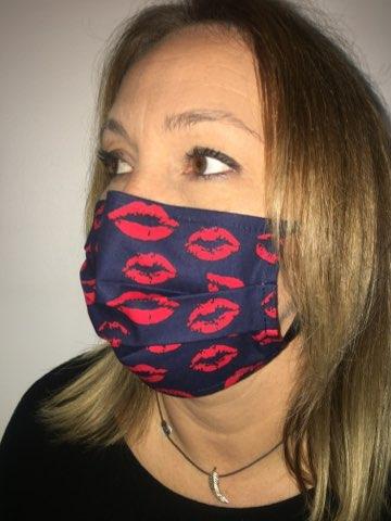 masque imprimé bisou