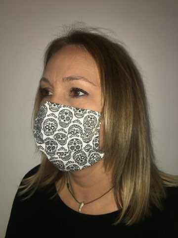 masque tetes de mort mexicaines blanc