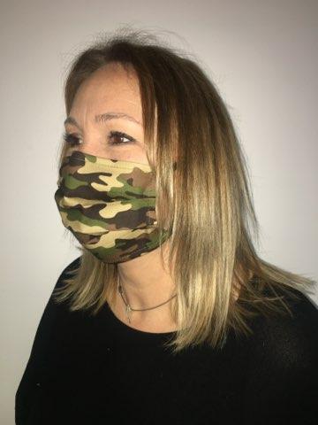 masque camo vert