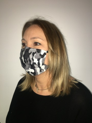 masque adulte camo gris