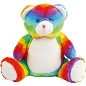 ourson multicolore en peluche
