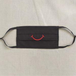 masque brodé sourire