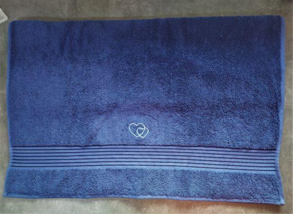 drap bain bleu