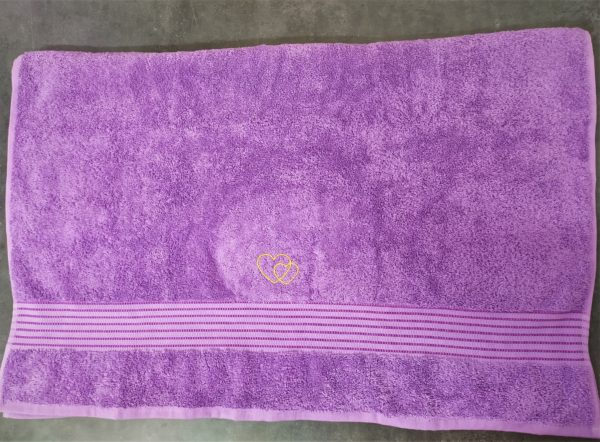 drap bain violet