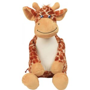 peluche girafe brodée