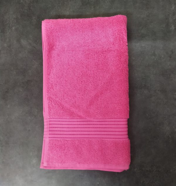 serviette bain rose